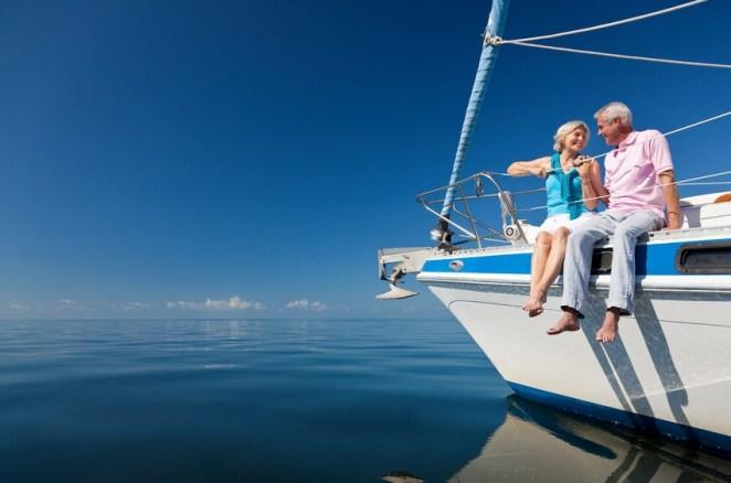 millionaires sitting on boat