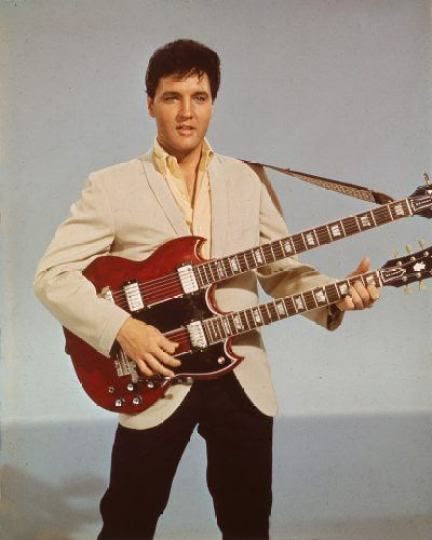 Elvis Presley with guitar
