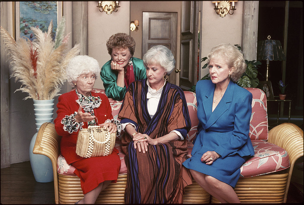 The team of 'The Golden Girls': Estelle Getty, Rue McClanahan, Bea Arthur, and Betty White
