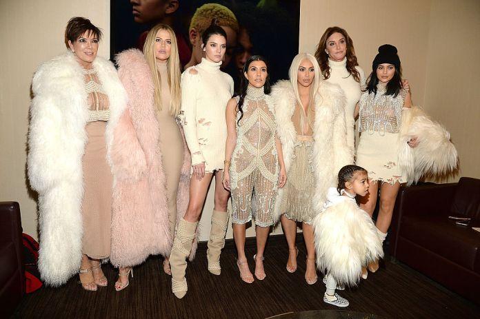 Kris Jenner, Khloé Kardashian, Kendall Jenner, Kourtney Kardashian, Kim Kardashian West, North West, Caitlyn Jenner and Kylie Jenner.