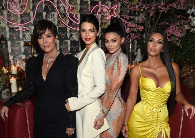 Kris Jenner, Kendall Jenner, Kylie Jenner and Kim Kardashian West