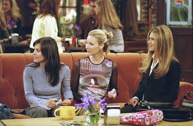 Courteney Cox as Monica Geller, Lisa Kudrow as Phoebe Buffay and Jennifer Aniston as Rachel Green |  NBCU Photo Bank