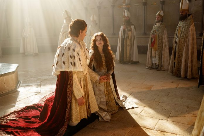 Henry and Catherine on their knees