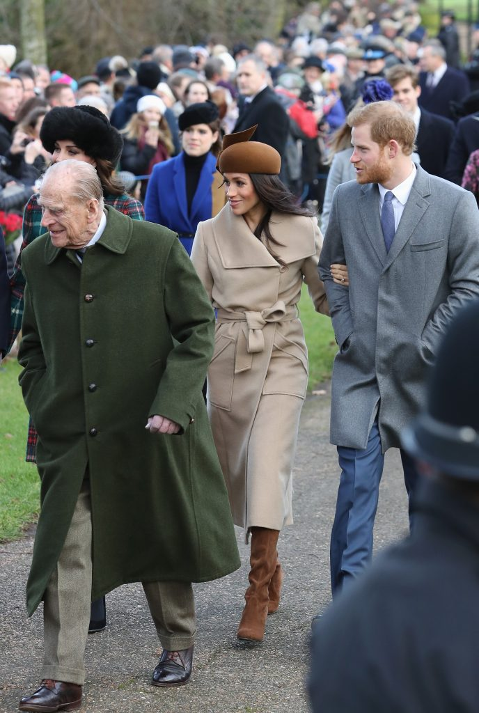 Members of the royal family attend the 2017 Christmas service