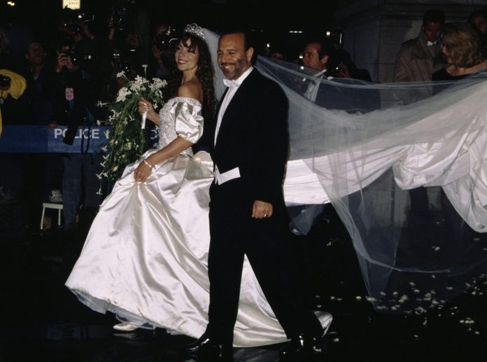 Singer Mariah Carey and her husband, Sony Music President Tommy Mottola, after their wedding at St. Thomas Episcopal Church in Manhattan.