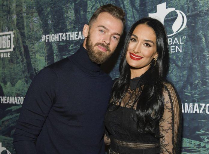 'DWTS' star Artem Chigvintsev and Nikki Bella attend the PUBG Mobile's #FIGHT4THEAMAZON Event at Avalon Hollywood