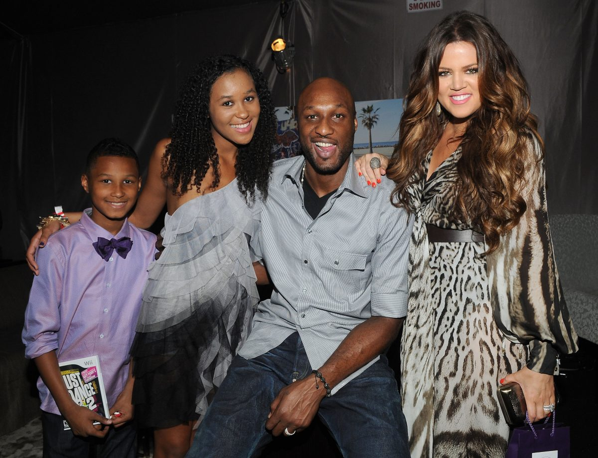 Lamar Odom Jr., Destiny Odom, Lamar Odom and Khloe Kardashian will be attending the Celebrity Creations Backstage Creations Retreat during Teen Choice 2011 day 2 at Gibson Amphitheater on August 7, 2011 in Universal City, California.
