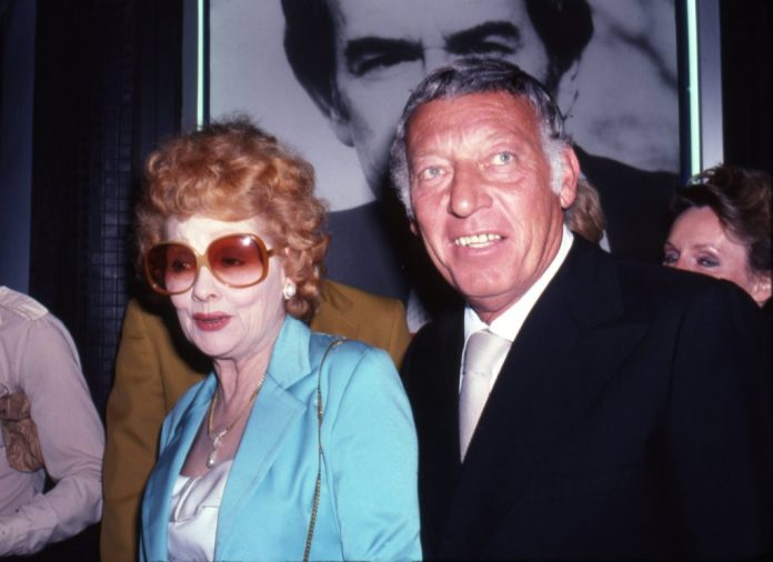 Lucille Ball and her husband Gary Morton in August 1980   Ron Eisenberg / Michael Ochs Archives / Getty Images