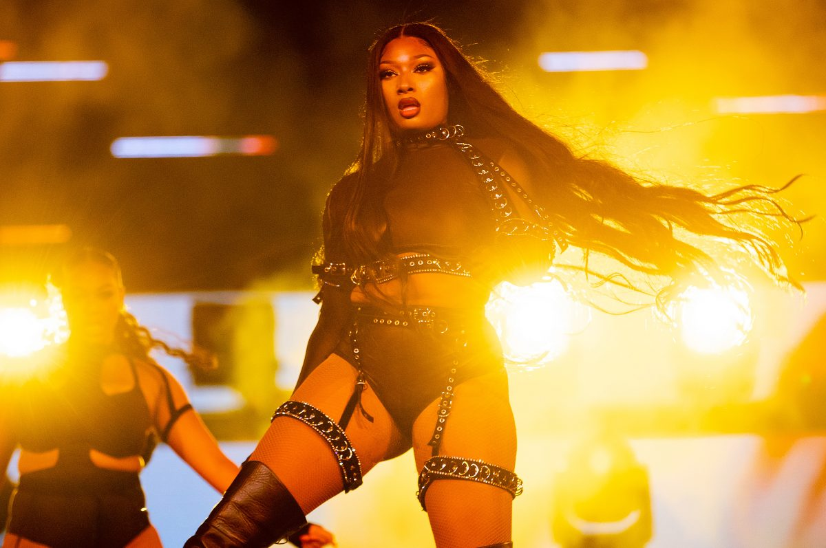 """Megan Thee Stallion will perform on stage during Day 2 of the 3-day """"Red Rocks Unpaused"""" Music Festival presented by Visible at Red Rocks Amphitheater on September 02, 2020 in Morrison, Colorado."""