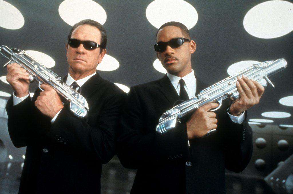 Tommy Lee Jones and Will Smith in 'Men in Black'