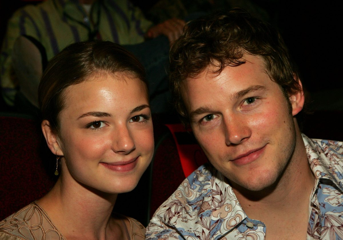 Emily VanCamp and Chris Pratt on June 9, 2006 in Las Vegas, Nevada.