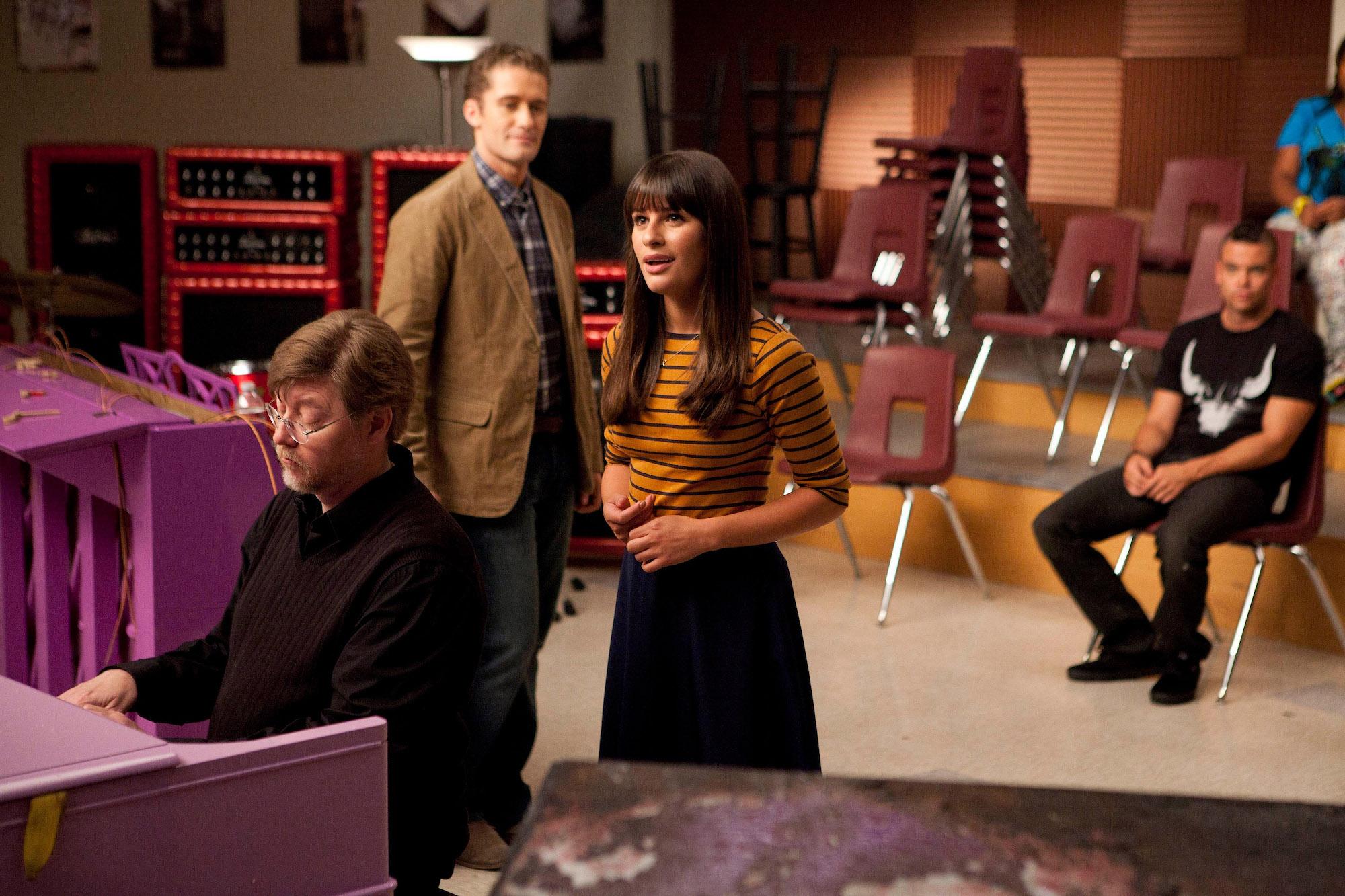 "Rachel (Lea Michele) will play in ""The Purple Piano Project"", the premiere of Season 3"