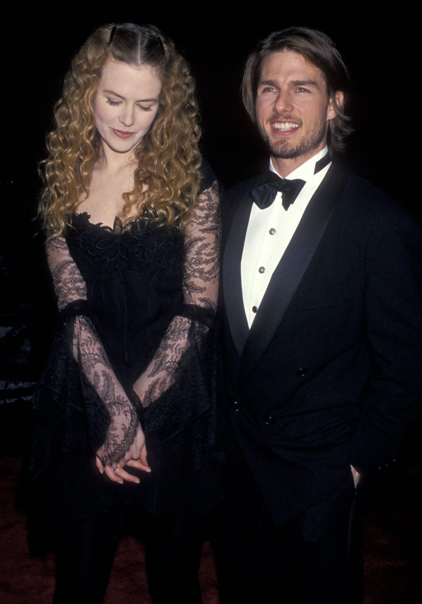 Nicole Kidman and Tom Cruise attend the 20th Annual People's Choice Awards on March 8, 1994