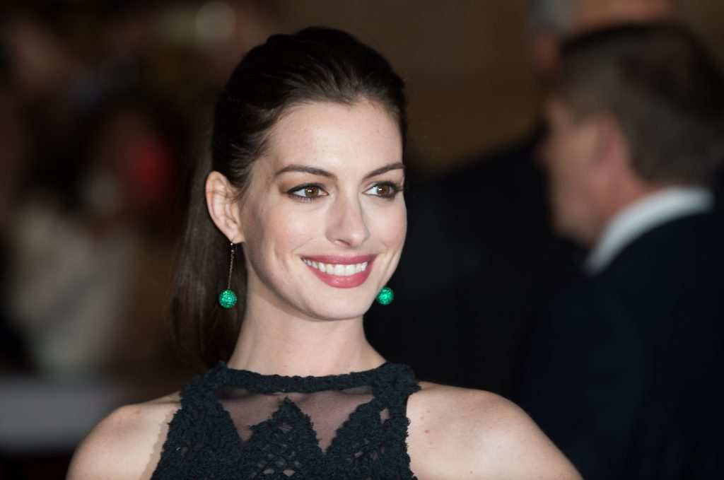Anne Hathaway at the UK premiere of 'The Intern'
