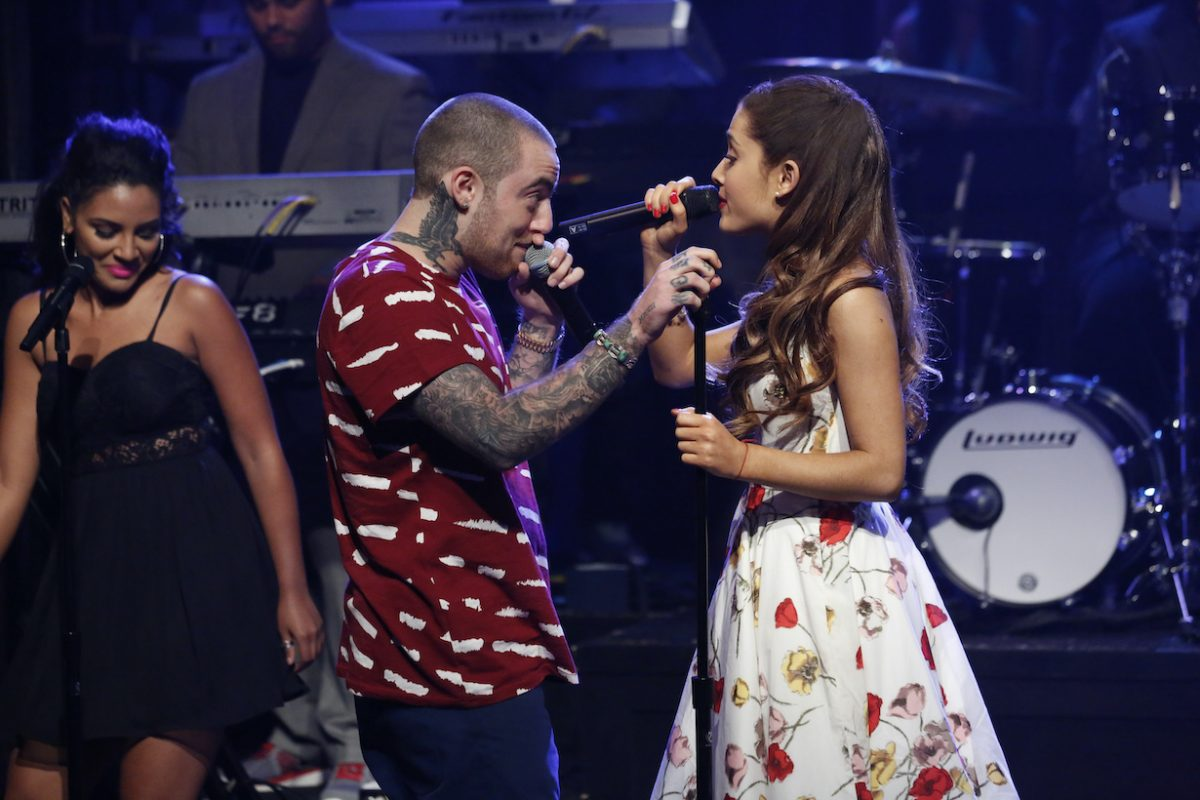 Ariana Grande and Mac Miller starring in Late Night with Jimmy Fallon