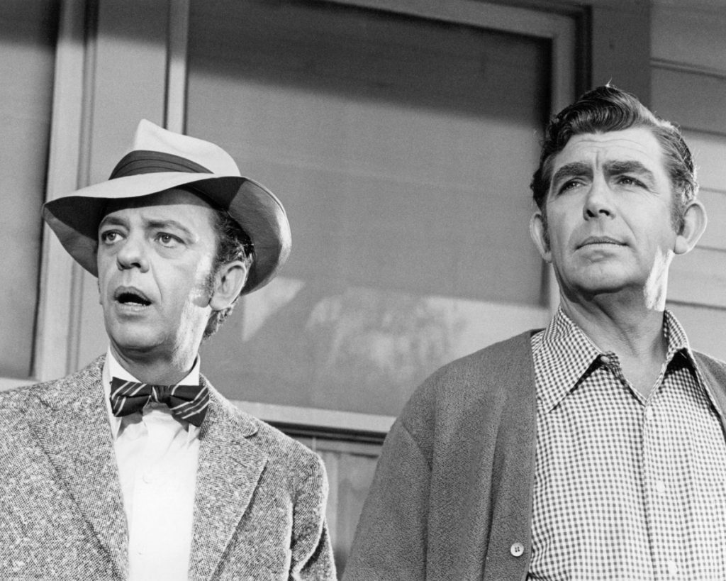 From left: Don Knotts and Andy Griffith of 'The Andy Griffith Show'