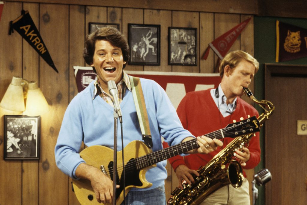 From left: 'Skyward' author Anson Williams and director Ron Howard in a scene from 'Happy Days'