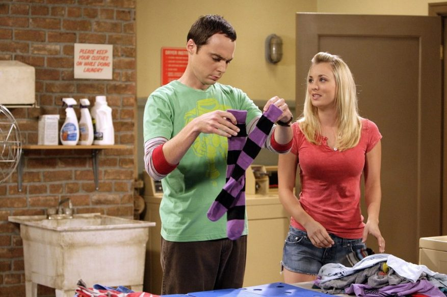 Jim Parsons et Kaley Cuoco dans 'The Big Bang Theory'