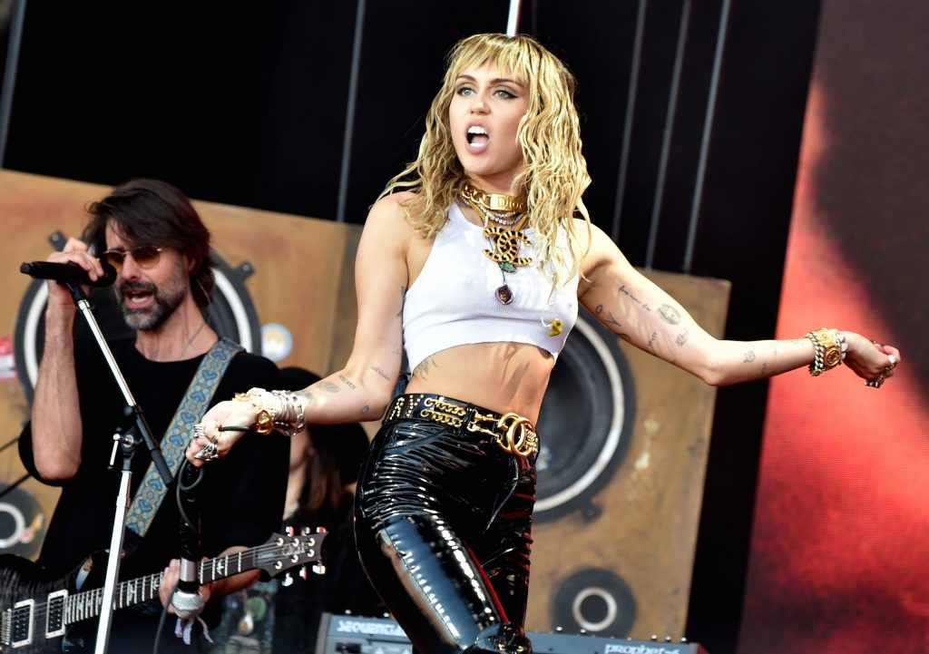 Miley Cyrus will perform on The Pyramid Stage during day five of the Glastonbury Festival