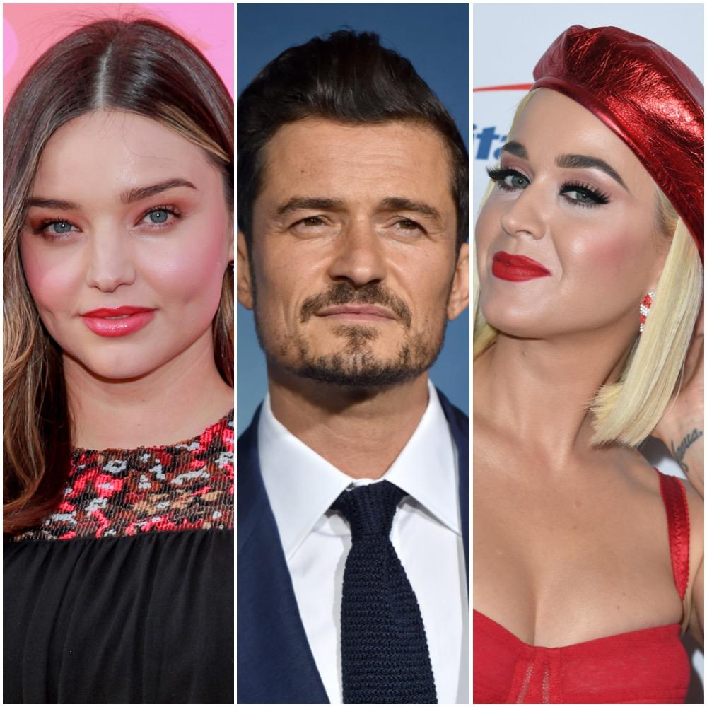 Miranda Kerr, Orlando Bloom, and Katy Perry