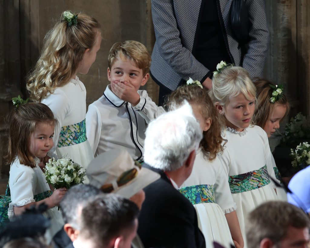 Prince George as a pageboy at Princess Eugenie and Jack Brooksbank's wedding
