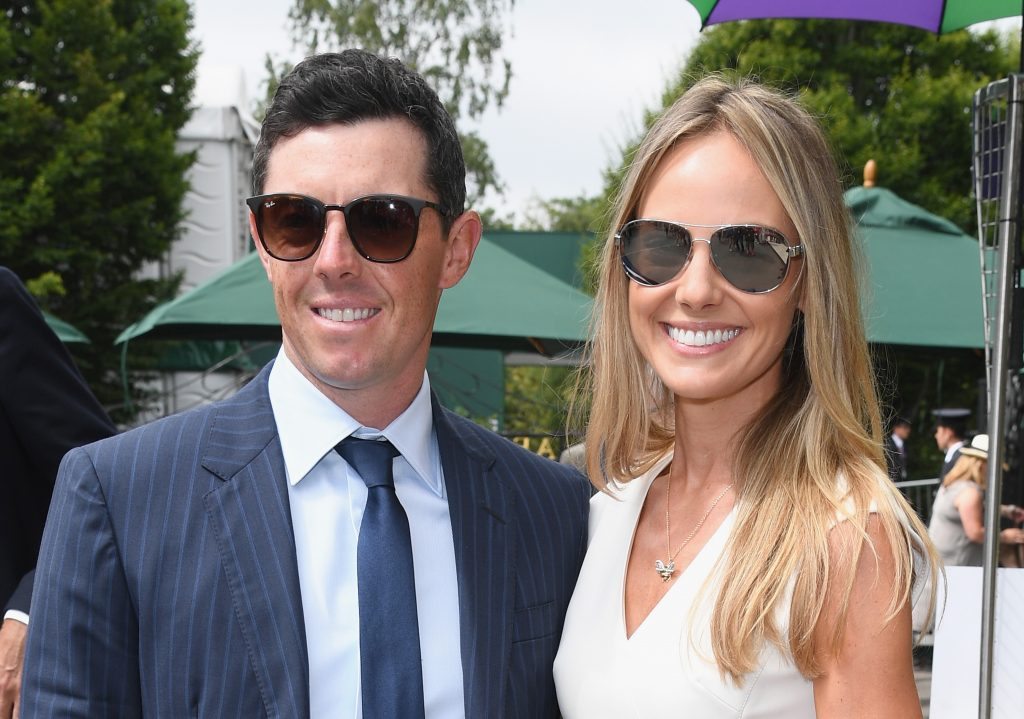 Roddy McIlroy and his wife Erica Stoll