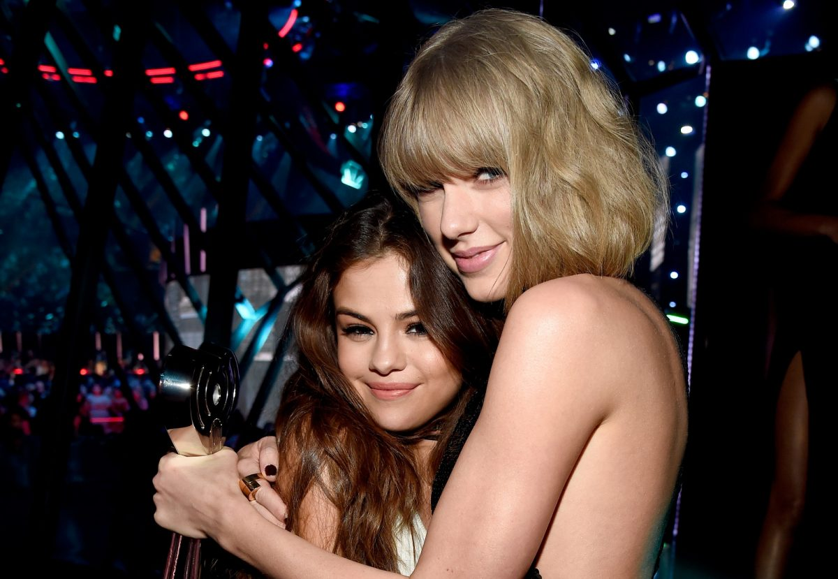 Selena Gomez and Taylor Swift return to the stage at the iHeartRadio Music Awards on April 3, 2016 in Inglewood, California.