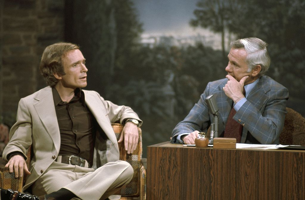 Dick Cavett in an interview with guest Johnny Carson on The Tonight Show