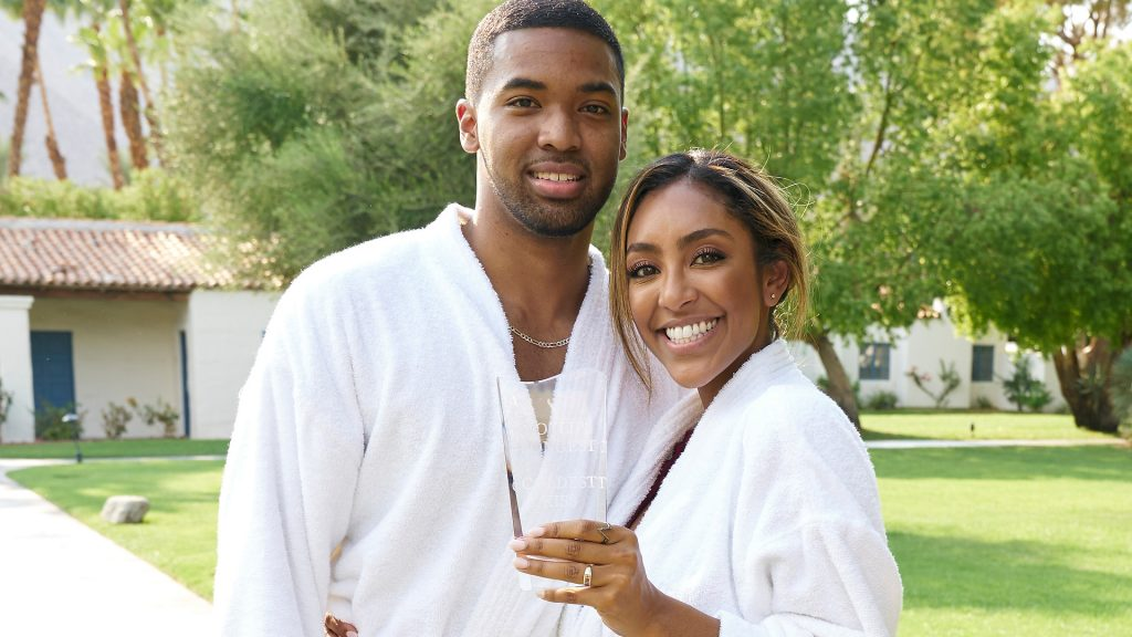 Ivan Hall and Tayshia Adams on their Fantasy Suite date on 'The Bachelorette' Season 16 Episode 12 ends on 21 December 2020