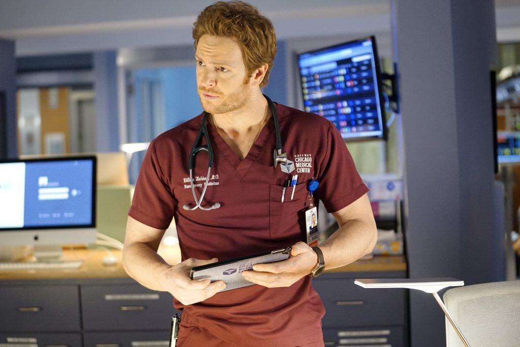 Nick Gehlfuss on the Chicago Med set  Elizabeth Sisson / NBCU / NBCUniversal Photo Bank via Getty Images via Getty Images