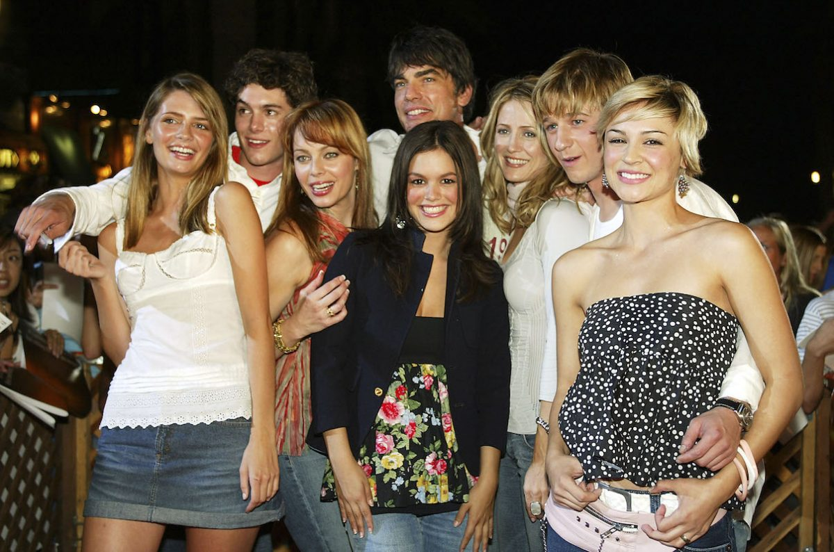 The crew of 'The OC' at a watch party in 2003