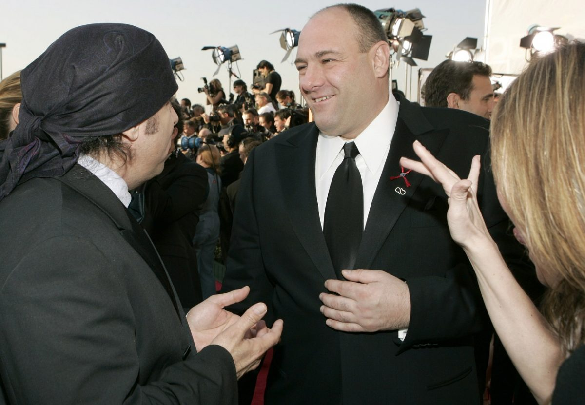 Gandolfini at awards ceremony