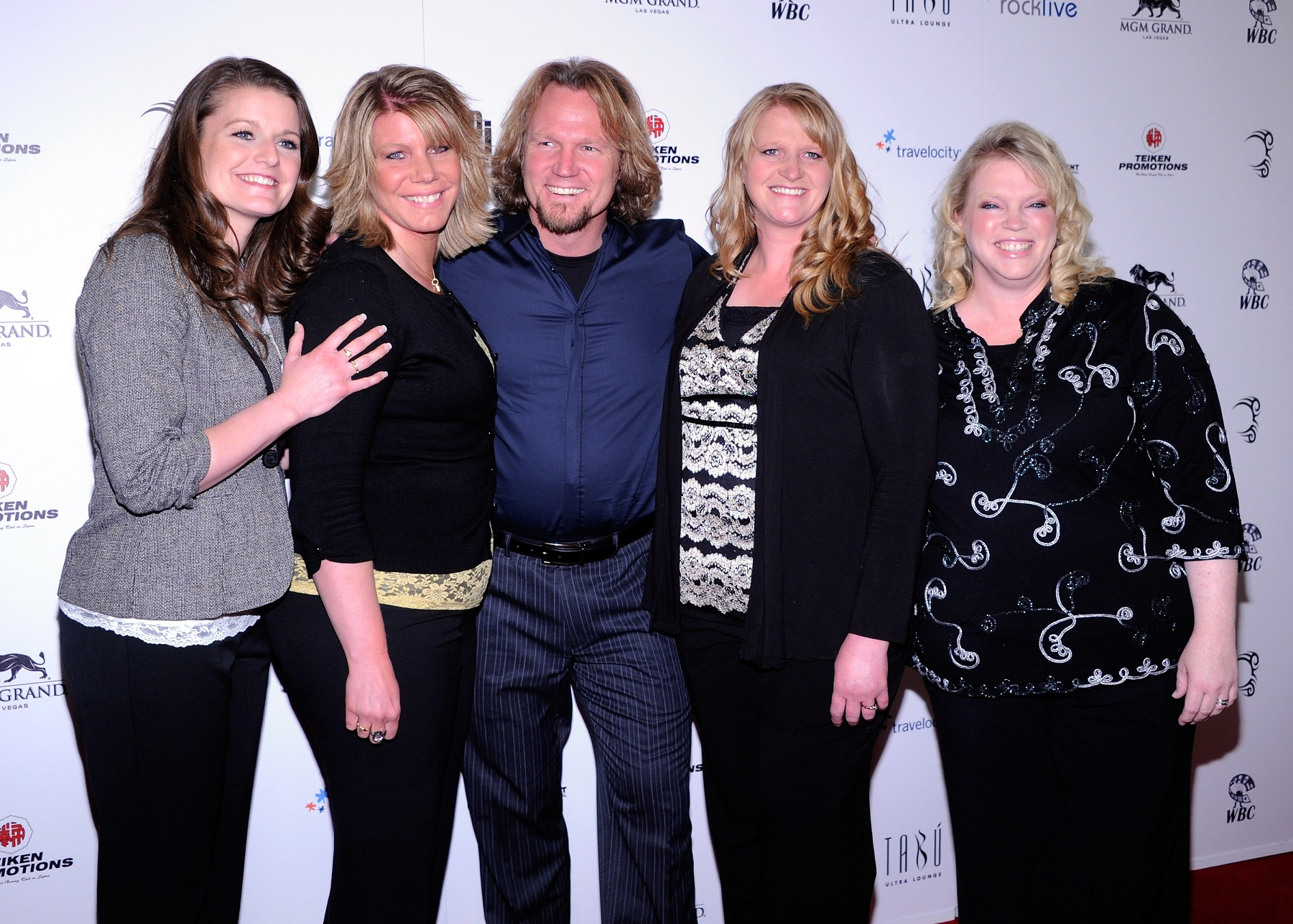 Robyn Brown, Meri Brown, Kody Brown, Christine Brown, and Janelle Brown from Sister Wives