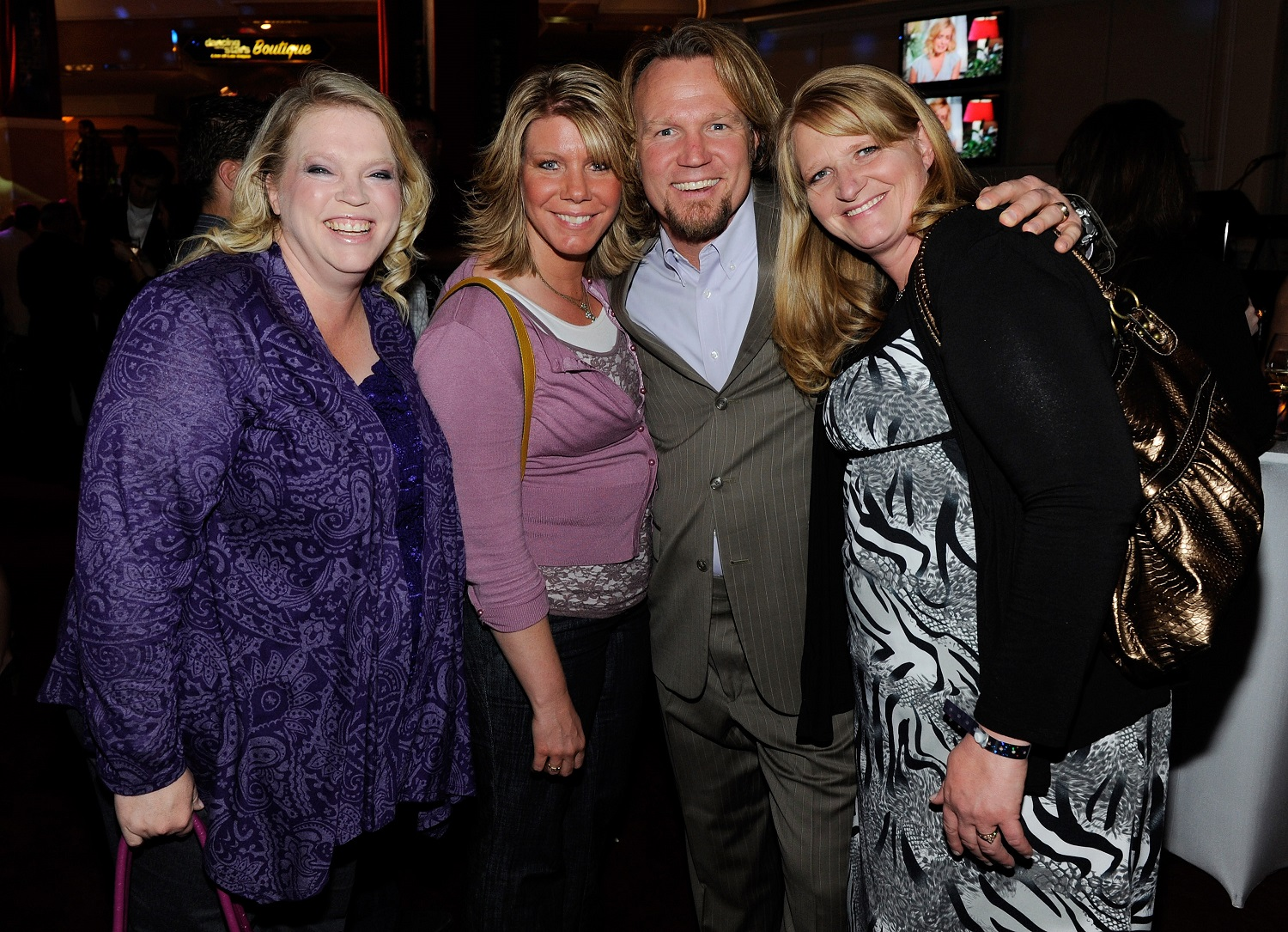 Janelle Brown, Meri Brown, Kody Brown, and Christine Brown from Sister Wives