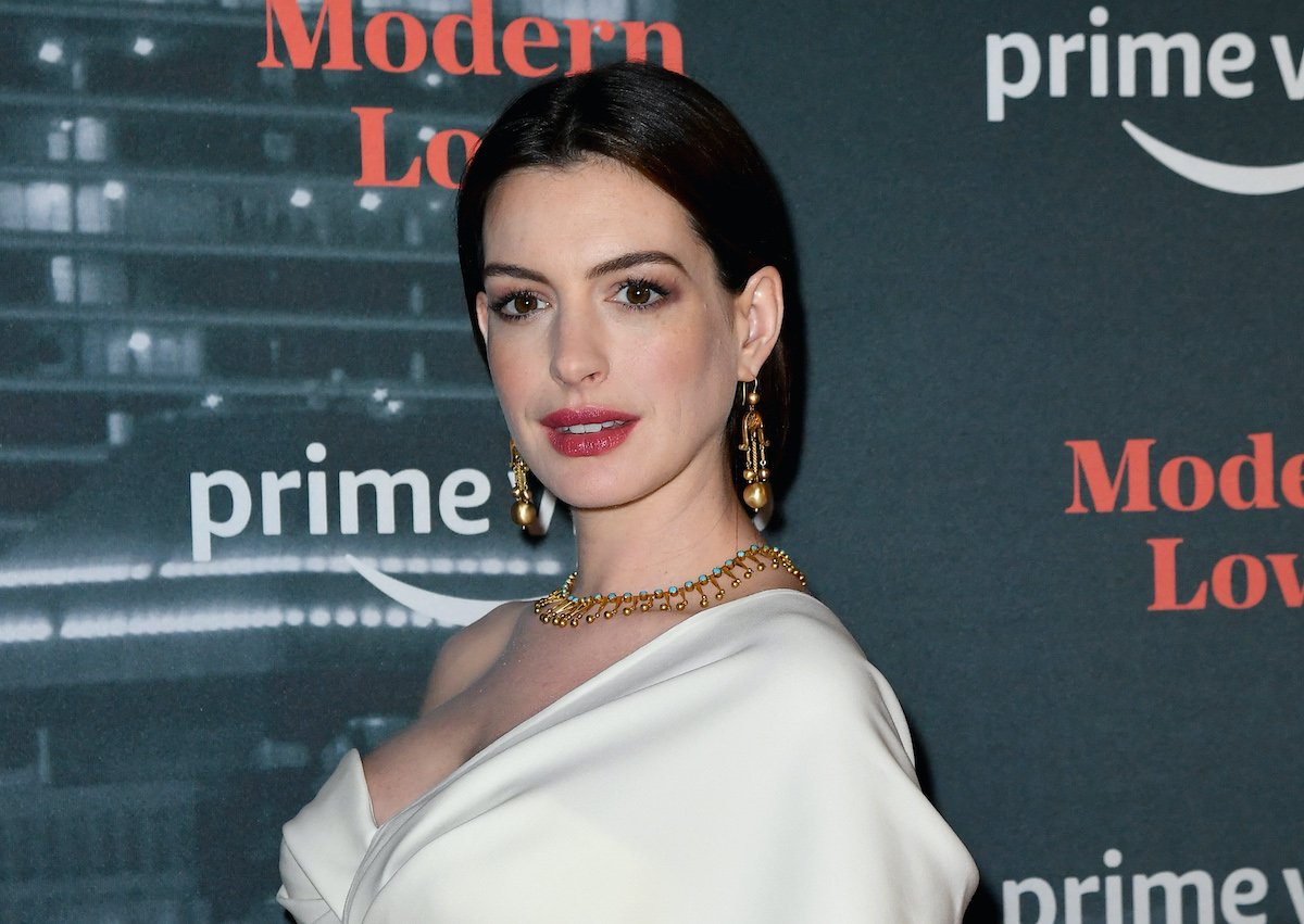 Anne Hathaway at the premiere of 'Modern Love'