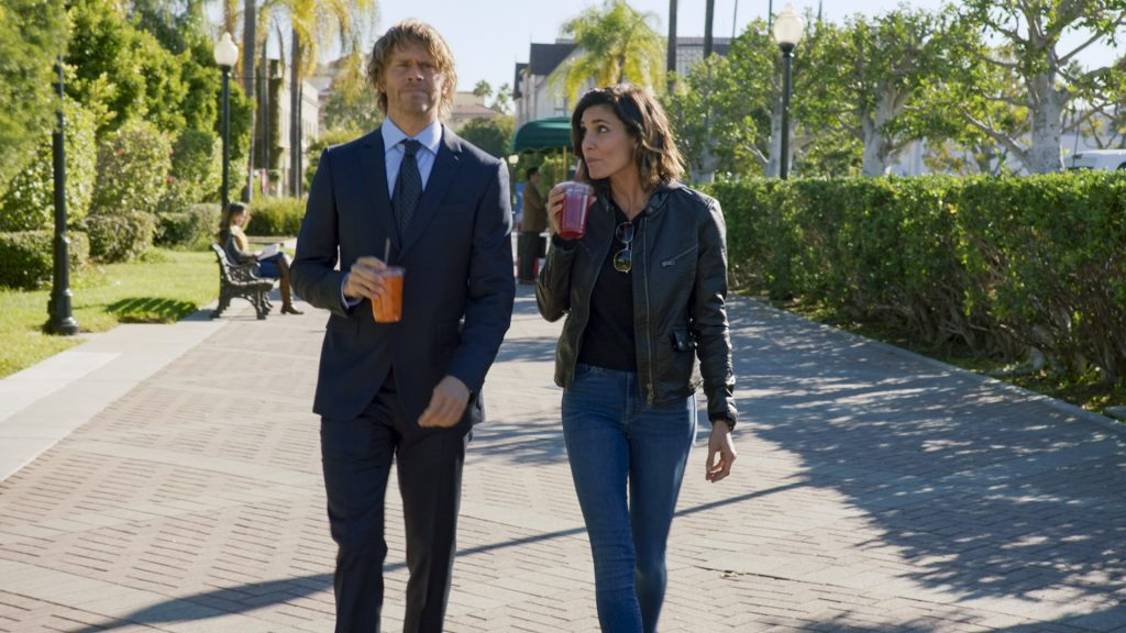 Kensi and Deeks get ready for their FLETC interview on NCIS Los Angeles |  CBS through Getty Images