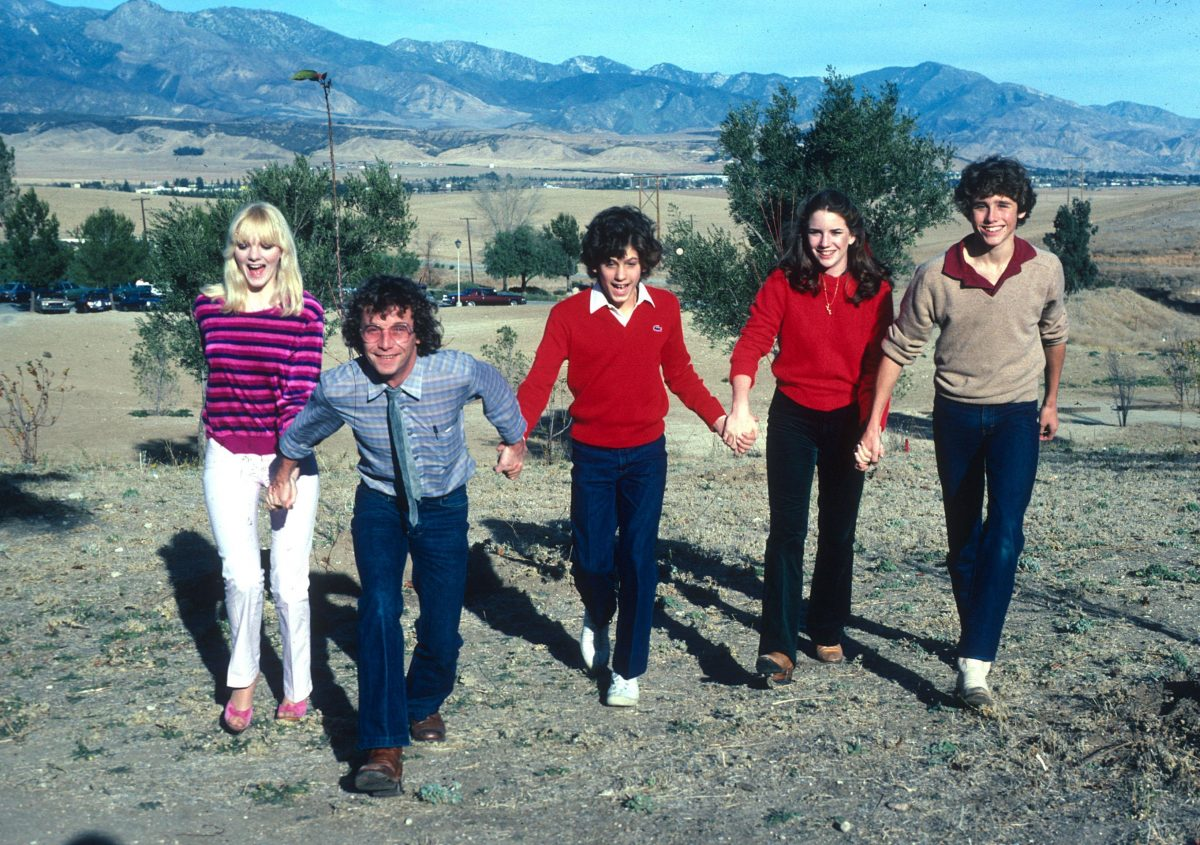 16-year-old Melissa Gilbert and Jonathan Gilbert with the young team from Little House on the Prairie