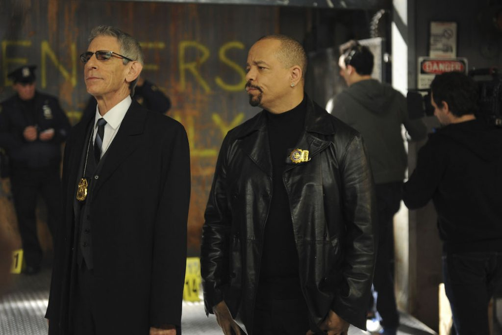 Richard Belzer and Ice-T in 'Law & Order: SVU'