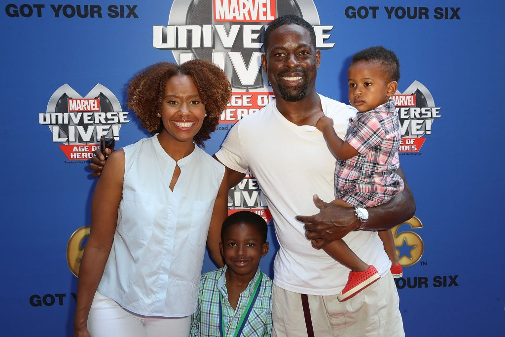 'This Is Us' star Sterling K. Brown with his wife Ryan Michelle Bathe, and his sons Andrew and Amare