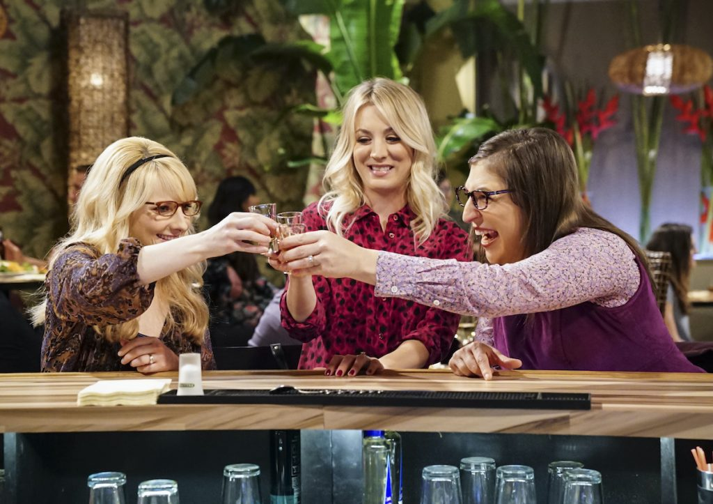 'The Big Bang Theory' stars Melissa Rauch (left), Kaley Cuoco (center), and Mayim Bialik |  Sonja Flemming / CBS through Getty Images