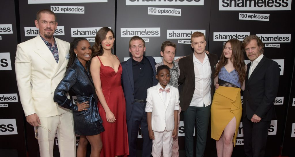 'Shameless' stars Steve Howey, Shanola Hampton, Emmy Rossum, Jeremy Allen White, Christian Isaiah, Ethan Cutkowsky, Cameron Monaghan, Emma Kenney and William H. Macy