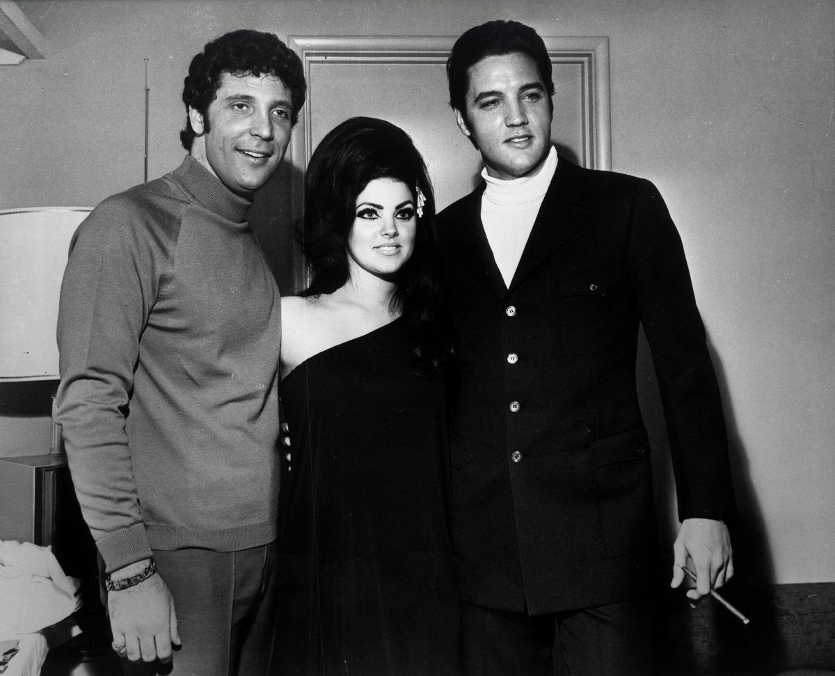 Tom Jones with Priscilla and Elvis Presley