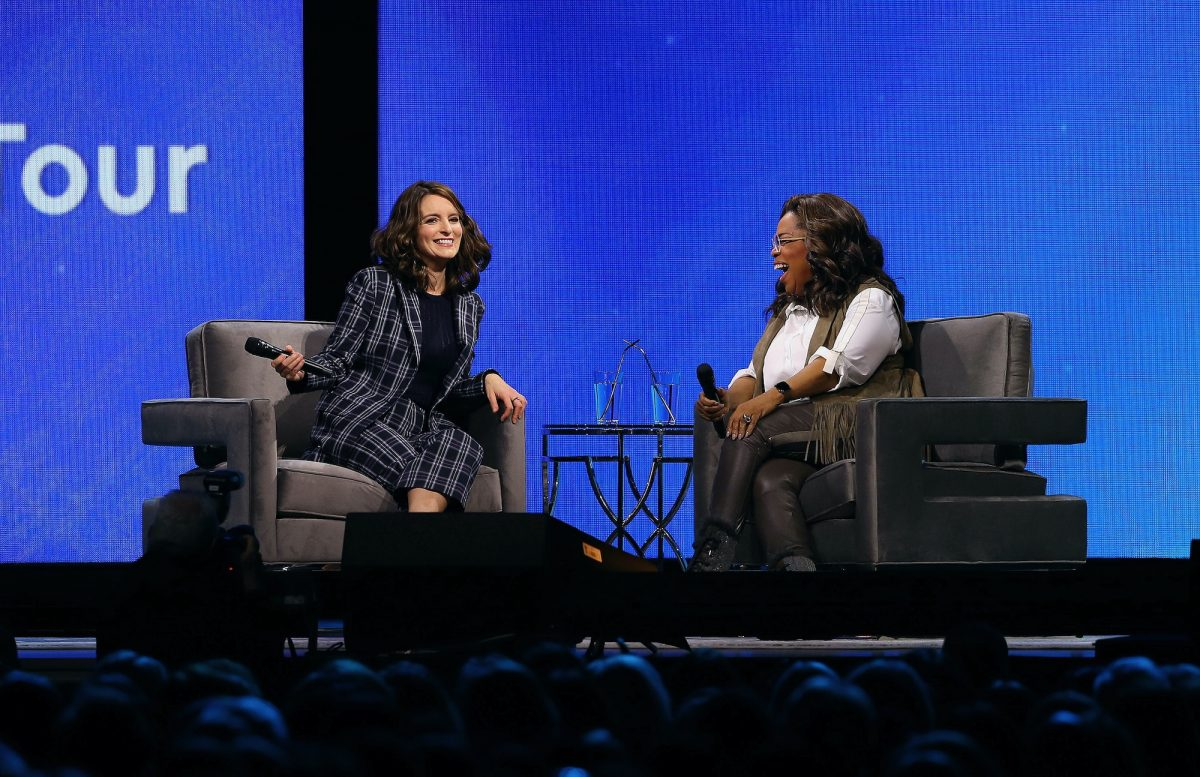 Oprah Winfrey and Tina Fey