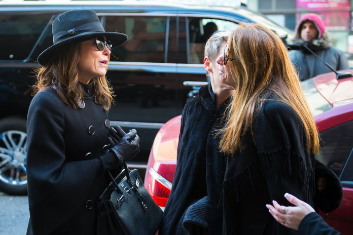 Bethany Frankel and Jill Zarin are seen departing from Bobby Zarin's funeral
