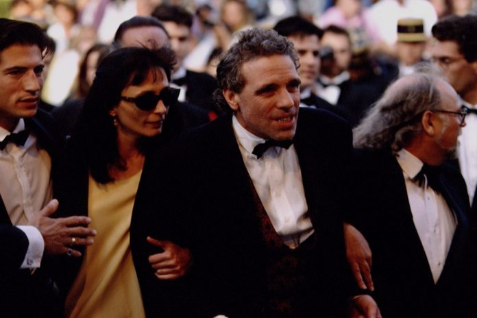 Director Abel Ferrara in a tuxedo at the Cannes Festival in 1993