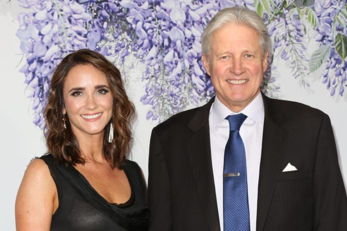 Bruce Boxleitner and his wife, Verena King-Boxleitner, attending an event together,