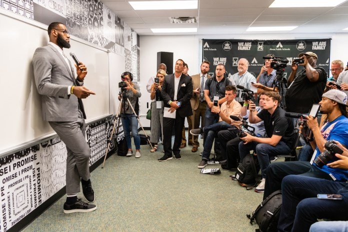 LeBron James in his I Promise School class