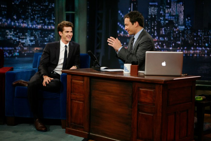 Andrew Garfield and Jimmy Fallon on 'Late Night With Jimmy Fallon'