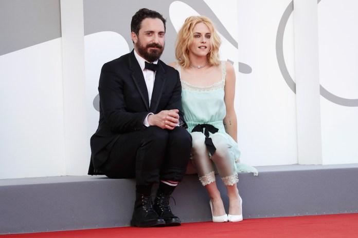 Kristen Stewart and Pablo Lahren on the red carpet
