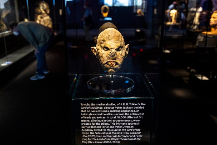 'The Lord of the Rings' orc mask in a museum